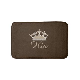 Brown His Crown Bath Mat