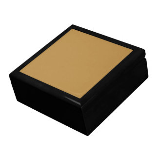 Brown Honey Solid Color Jewelry Box