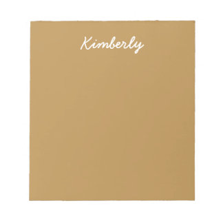Brown Honey Solid Color Notepad