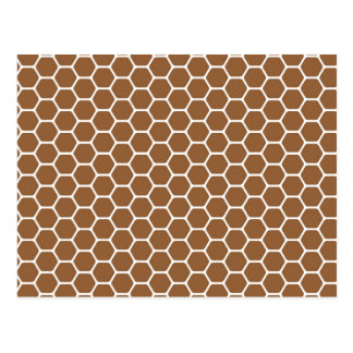 Brown Honeycomb Postcard