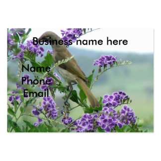 Brown Honeyeater #1 Large Business Cards (Pack Of 100)