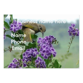 Brown Honeyeater looking back Large Business Cards (Pack Of 100)