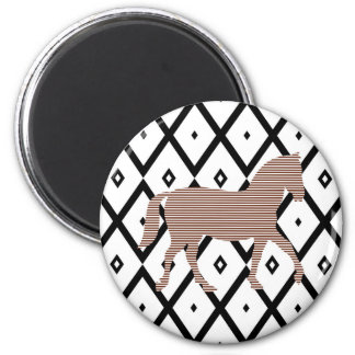 Brown horse - Abstract geometric pattern - black. Magnet