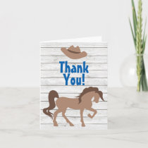 Brown Horse and Cowboy Hat Western Thank You