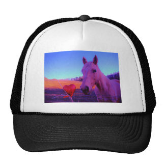 Brown Horse and Red Heart Trucker Hat