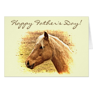 Brown Horse Animal Fathers Day Card