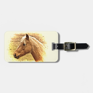 Brown Horse Animal Luggage Tag