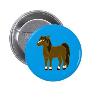 Brown Horse Button