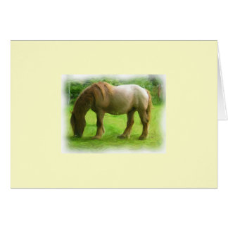 Brown horse card