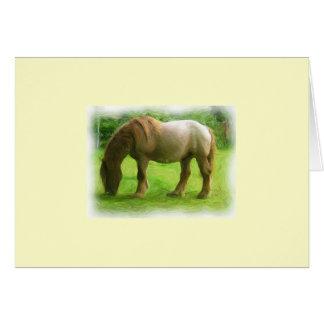 Brown horse greeting card