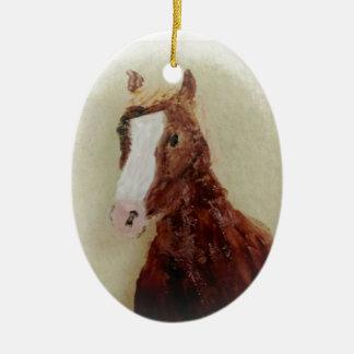 Brown Horse Ceramic Ornament