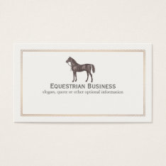 Brown Horse Equestrian Business Card at Zazzle