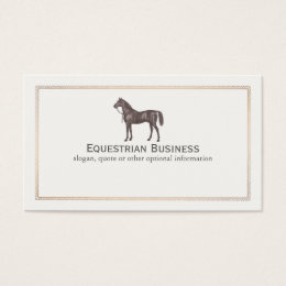 Equestrian business cards templates zazzle brown horse equestrian business card yadclub Images
