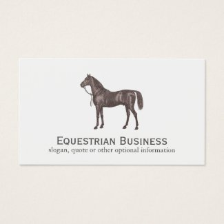 Brown Horse Equestrian Simple Business Card