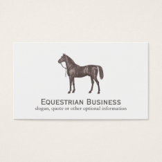 Brown Horse Equestrian Simple Business Card at Zazzle