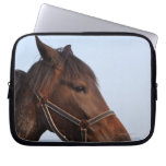 Brown horse head laptop computer sleeves