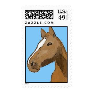 Brown Horse Head Stamp