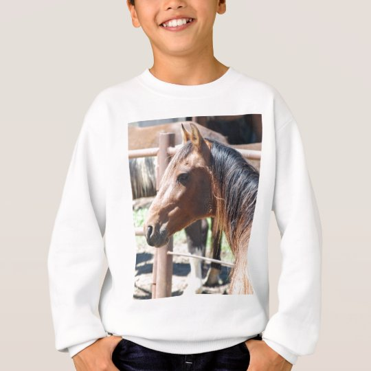 brown horse head sweatshirt