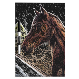 Brown horse in a field Dry-Erase board