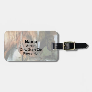 Brown Horse in Stall Luggage Tag
