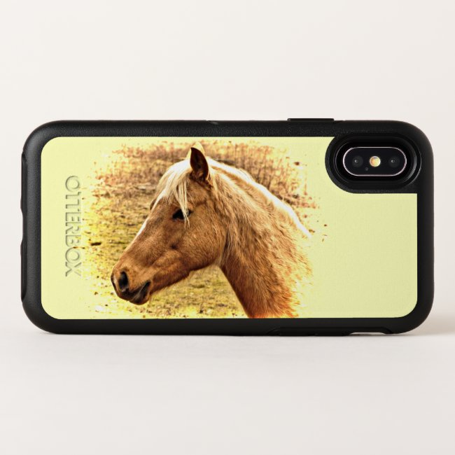 Brown Horse in Yellow Sun iPhone X Case