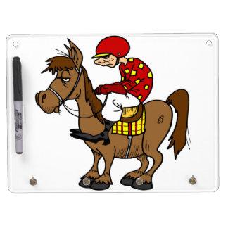 Brown Horse Jockey Dry Erase Whiteboard