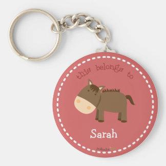 Brown Horse Keychain