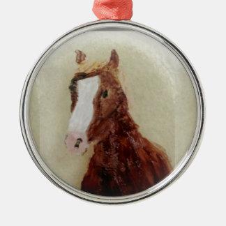Brown Horse Metal Ornament