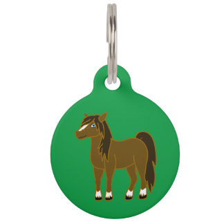 Brown Horse Pet ID Tag