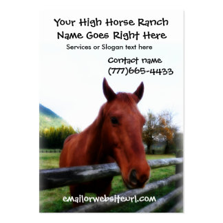 Brown Horse Photographic Portrait Business Card Template