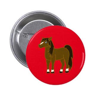 Brown Horse Pinback Button