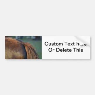 brown horse pony tail flank equine animal design bumper sticker