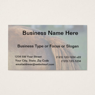 brown horse pony tail flank equine animal design business card
