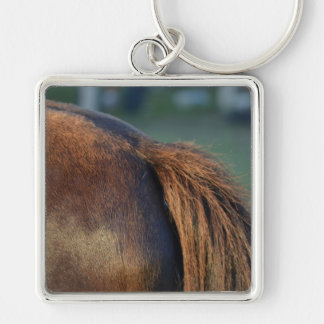 brown horse pony tail flank equine animal design key chains