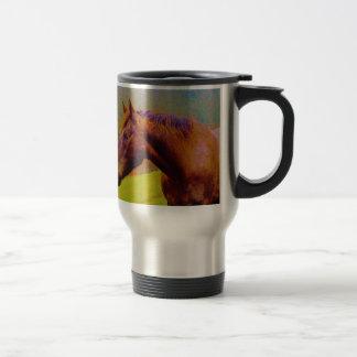 Brown Horse & Rainbow Forest Travel Mug