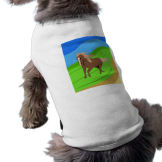 Brown Horse Running with mane & tail blowing wind Shirt