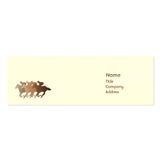 Brown Horse - Skinny Business Cards