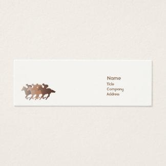 Brown Horse - Skinny Mini Business Card