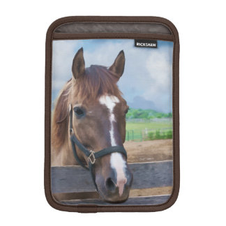 Brown Horse with Bridle Sleeve For iPad Mini