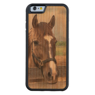 Brown Horse with Halter Carved® Cherry iPhone 6 Bumper