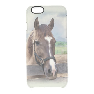 Brown Horse with Halter Clear iPhone 6/6S Case