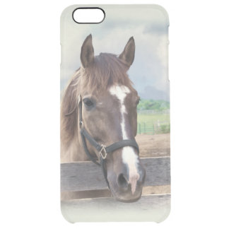 Brown Horse with Halter Clear iPhone 6 Plus Case