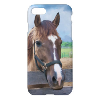 Brown Horse with Halter Customizable iPhone 7 Case