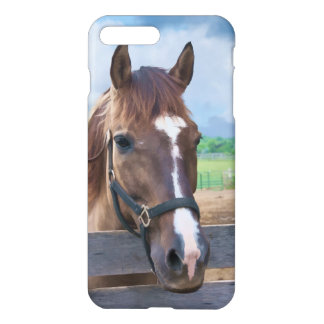 Brown Horse with Halter Customizable iPhone 7 Plus Case