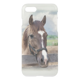 Brown Horse with Halter iPhone 7 Case