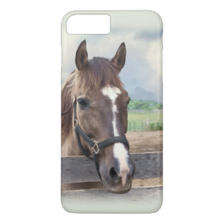 Brown Horse with Halter iPhone 7 Plus Case