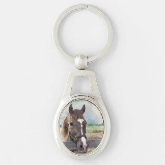 Brown Horse with Halter Keychain