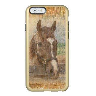 Brown Horse with Halter on Old Wood Incipio Feather® Shine iPhone 6 Case