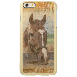 Brown Horse with Halter on Old Wood Incipio Feather® Shine iPhone 6 Plus Case