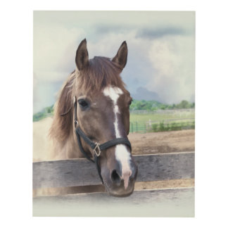 Brown Horse with Halter Panel Wall Art
